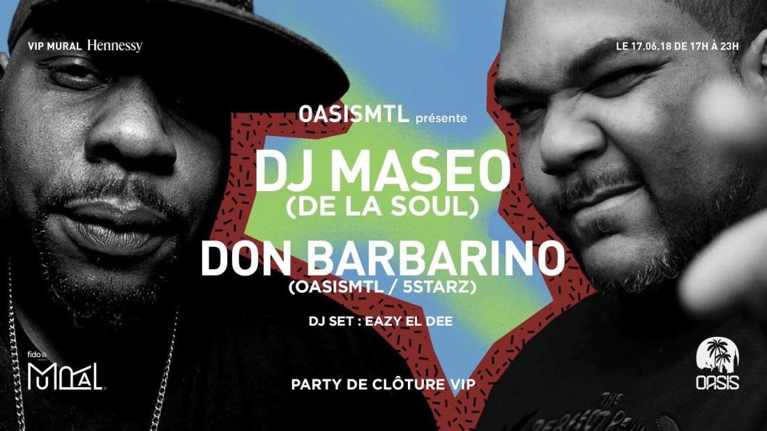 Festival Mural Montreal VIP closing party MASEO DE LA SOUL