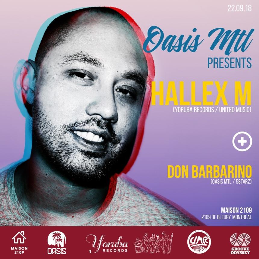 Oasis Mtl presents Hallex M Yoruba Records United Music